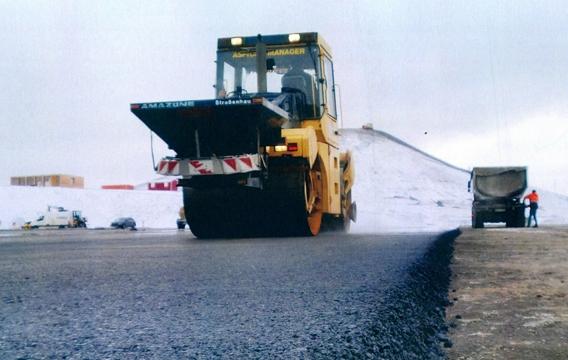 Asphalt Beleg asphaltieren